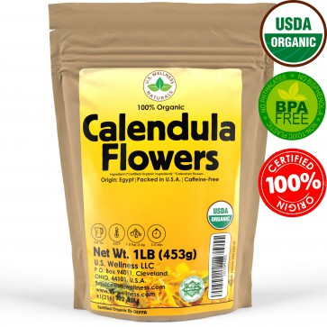 100% Organic Calendula (Whole Flowers) Herbal Tea 1lb bulk (Egypt)