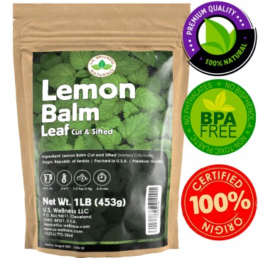 Lemon Balm Herbal Tea Cut and Sifted, AAA Grade 1lb bulk FIRST FLUSH