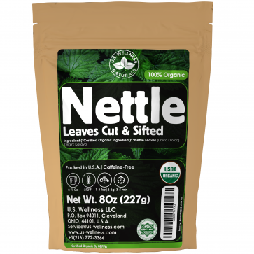 Organic Nettle Tea 8oz Cut and Sifted