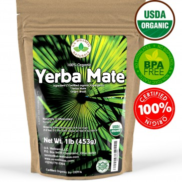 Yerba Mate Tea 1lb - Super Green 100% ORGANIC