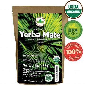 Yerba Mate Tea 1lb - Super Green 100% ORGANIC
