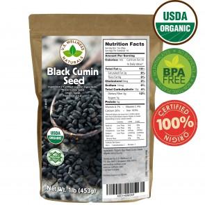 100% Organic Black Cumin Seed (Nigella Sativa) 1 lb bulk (Egypt)