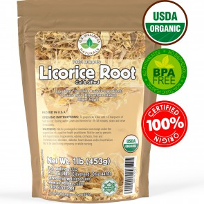 Licorice Root Cut and Sifted 100% Organic 1lb Egypt