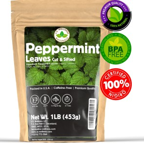 Peppermint Tea, Strong and fresh mint tea, Cut and Sifted 1LB