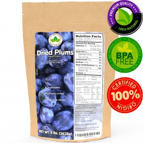 Prunes, SPECIALITY Dried Plums, BULK 8lbs Package