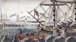 Artist's Rendering of the Boston Tea Party